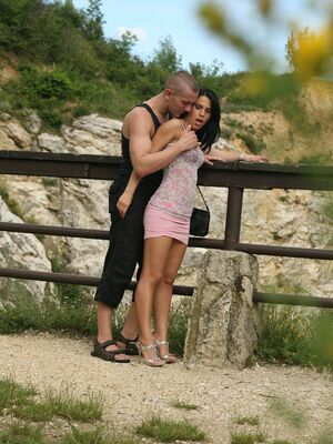 Pervs on Patrol - Gorgeous babe Amabella fucking big cock outdoor for a spy photoshoot