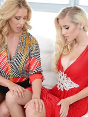 Moms Lick Teens - Blondes MILF Cherie Deville and teen chick Naomi Woods having lesbo sex