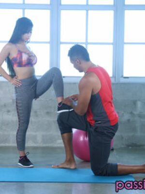 Passion-HD - Asian hottie with perky tits Jade Kush gets banged by her personal trainer