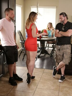 Bad Teens Punished - Slutty teen Whitney Wright gets a facial from stepdad in the kitchen