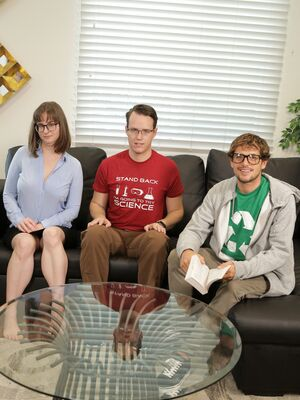 That Sitcom Show - Nerdy brunette Jay Taylor gives a nice blowjob before a hardcore fuck