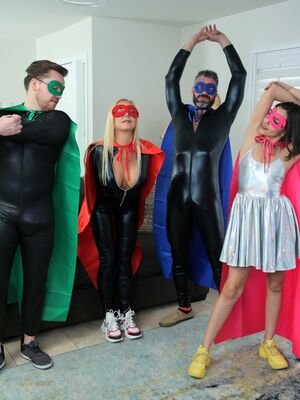 Family Swap XXX - Closely related family members have a foursome in cosplay clothing