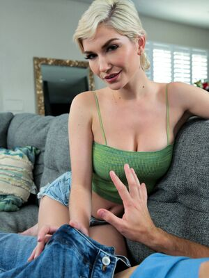Princess Cum - Short haired chick Skye Blue sports a creampie after sex with her stepbrother