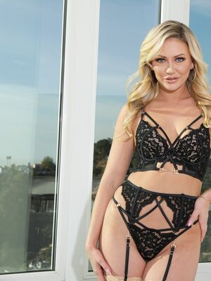 Hard X - Blonde chick models sensual lingerie prior to hardcore anal action