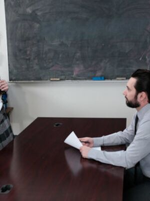 Innocent High - Geeky young lady Geneva King gets roughly screwed by her horny teacher