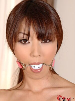 House Of Taboo - Naked Japanese model Marica Hase is left ball gagged and handcuffed on table