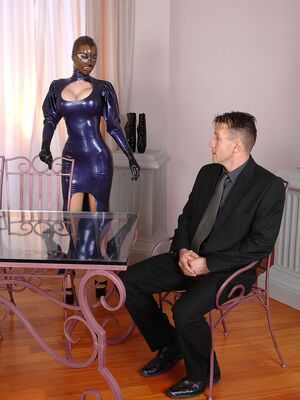 House Of Taboo - Big boobed fetish slut Latex Lucygets dominated in an MMF threesome