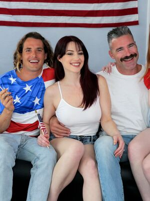 Family Swap XXX - Jessica Ryan & Michelle Anthony swap partners during foursome action