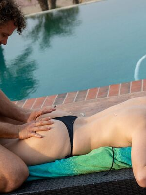 Mylf - Sexy Hungarian MILF Lily Love gets massaged, fucked and facialed outdoors