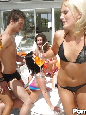 Cruelty Party - Hot babe Loni Evans makes a party to strip off bikini and fuck hard