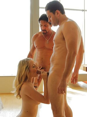 Fantasy HD - Young girl Alli Rae gets pounded by two big cocks in all three holes